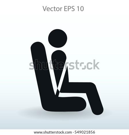 Flat passenger icon. Vector