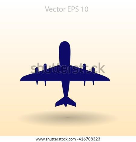Flat plane icon. Vector