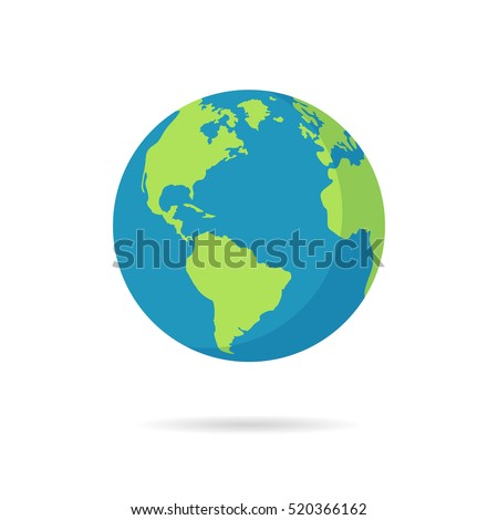 flat planet earth icon vector