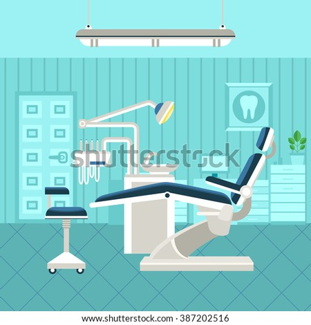 flat poster of dental room