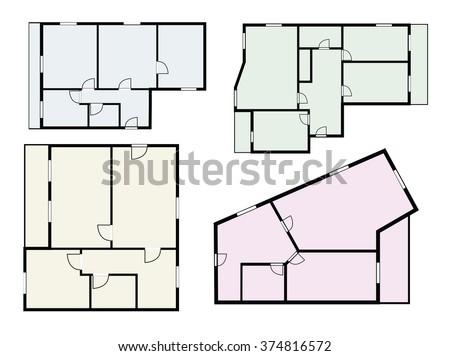 flat projects vector set