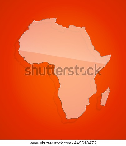 flat red african continent