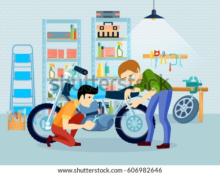 flat repair motorcycle