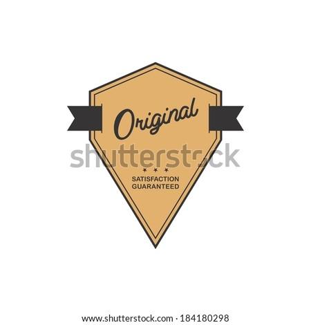 flat retro original label