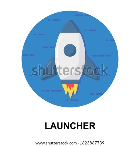 Flat rounded design of startup icon for launcher