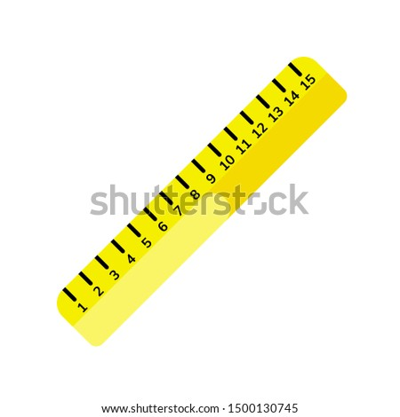 Flat ruler icon isolated on white background. Element for graphic and web design. Vector illustration.