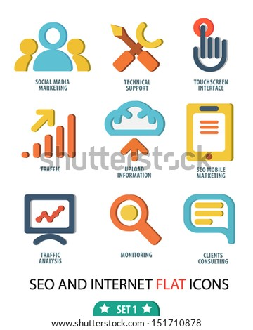 Flat set icons for Web and Mobile Applications