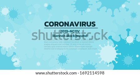 Flat silhouette design coronavirus background vector illustrator, for coronavirus, COVID-19, 2019-nCov prevention presentation concept.