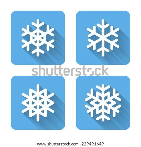 stock-vector-flat-snowflake-icons-vector-illustration