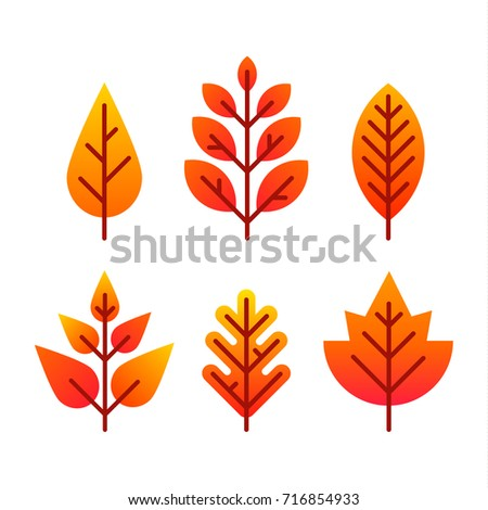 flat style autumn colorful