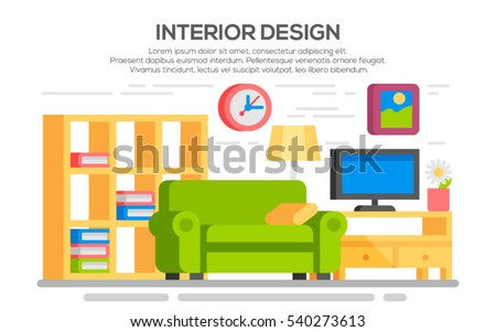 flat style concept set of