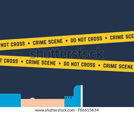 flat style crime scene with
