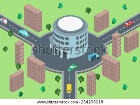 flat style 3d isometric vector...