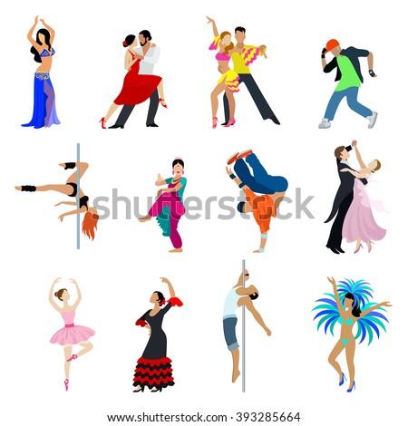 flat style dancing dancer