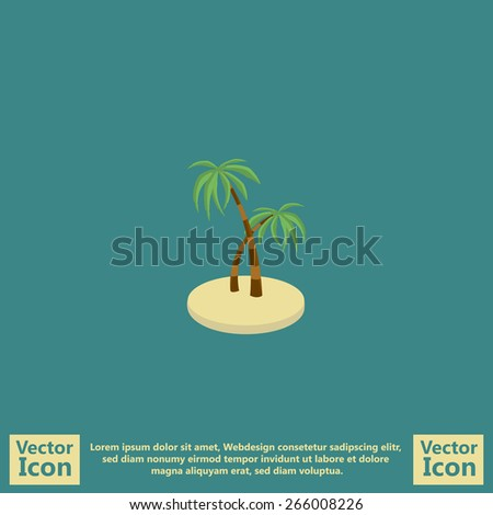 flat style icon with tropical