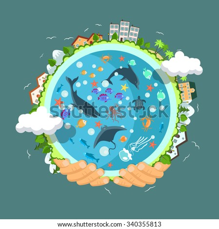 flat style vector isolated