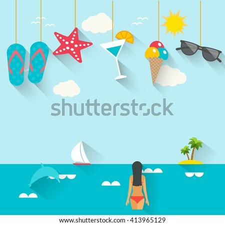 flat summer holidays  vacation