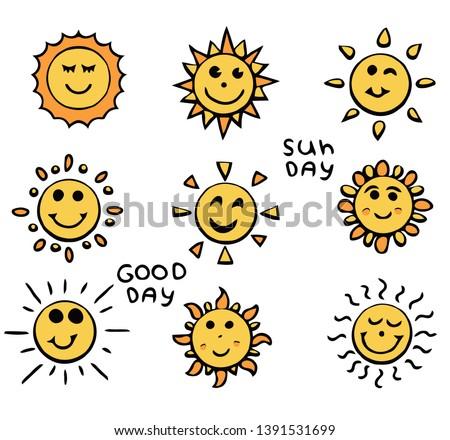 flat sun icon solar pictogram