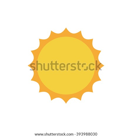 flat sun icon summer pictogram