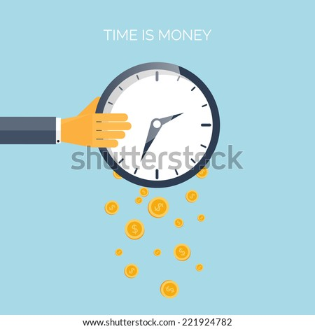 flat time is money concept