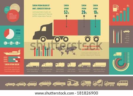 flat transportation infographic