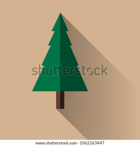 Flat tree on background #1062263447