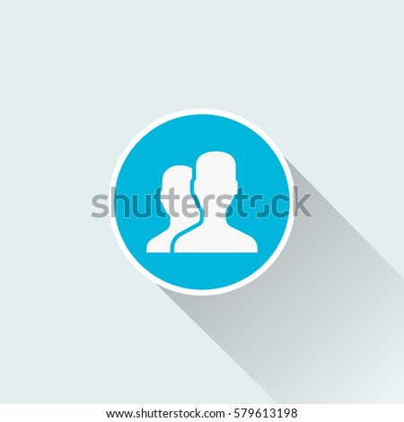 flat two man icon