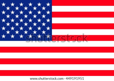Flat United States of America flag vector background #449191951