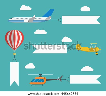 flat vector airplane ...
