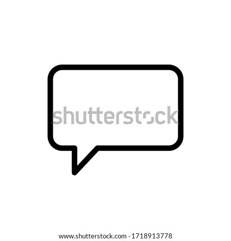 Flat vector chat message in speech bubble icon. Isolated on white background.