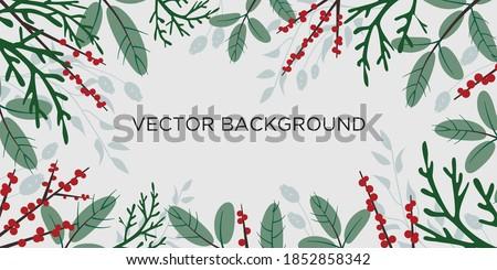 flat vector christmas