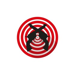 flat vector design of shooting target or shooting practice revolver logo, perfect for icons or buttons on the web, or for shooters themed users or can also be used for gamers' club or community logos