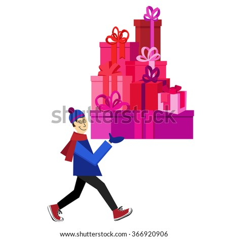 flat vector greeting card