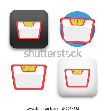 flat Vector icon - illustration of balance weight icon