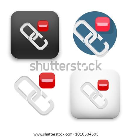 flat Vector icon - illustration of broken link icon