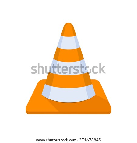 flat Vector icon - illustration of Cone icon isolated on white