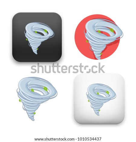 flat Vector icon - illustration of hurricane icon