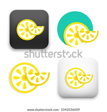 flat Vector icon - illustration of lemon fruit icon