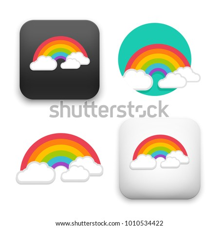 flat Vector icon - illustration of rainbow icon