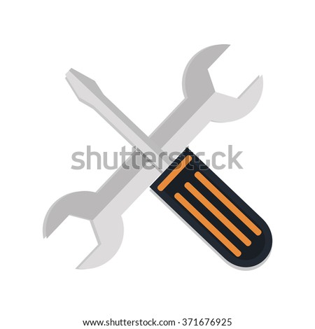 flat Vector icon - illustration of tools icon isolated on white