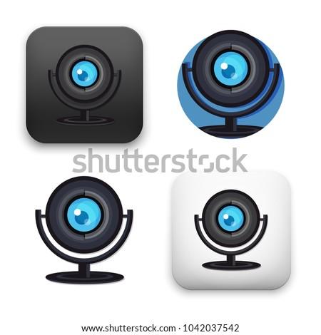 flat Vector icon - illustration of Web camera icon