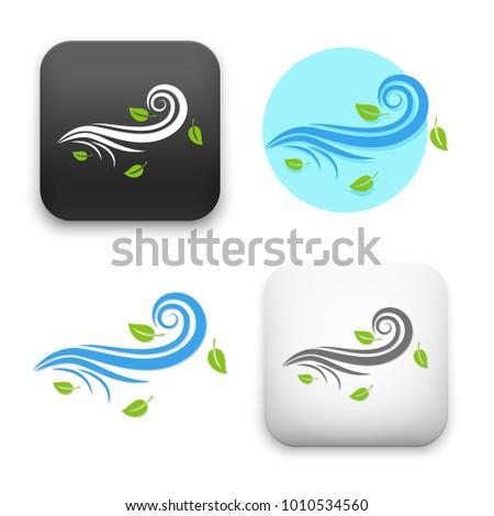 flat Vector icon - illustration of wind icon