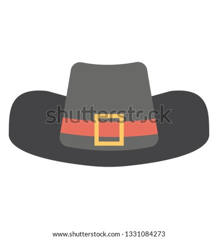 ccd13f7f Flat vector icon of pirate hat.
