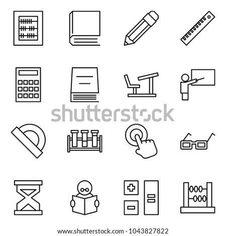 flat vector icon set   abacus