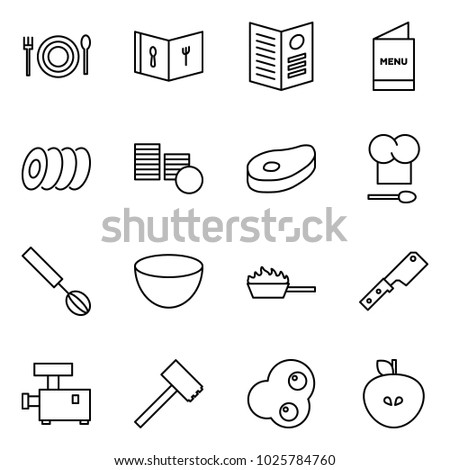 flat vector icon set   cafe