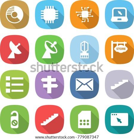 flat vector icon set   circle