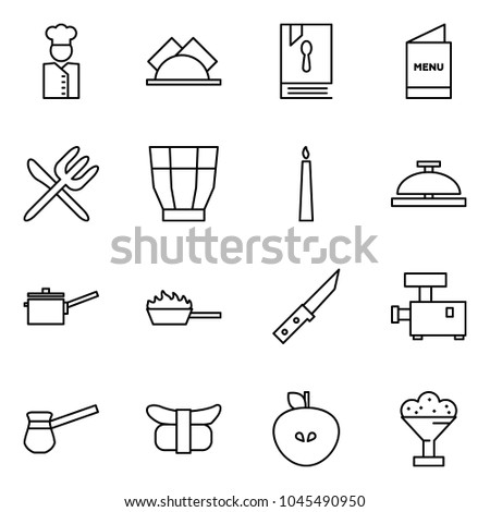 flat vector icon set   cook