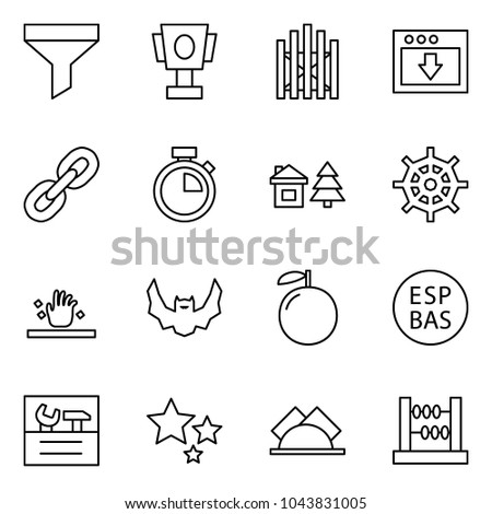 flat vector icon set   funnel