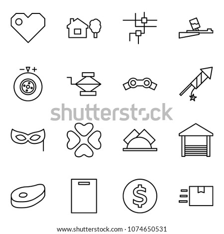 flat vector icon set   heart