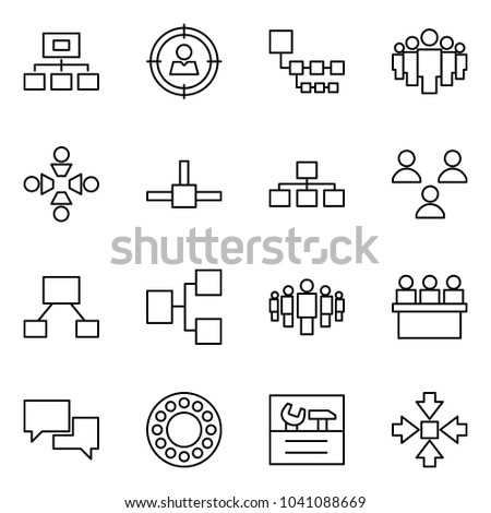 Flat vector icon set - hierarchy vector, target audience, group, friendship, connect, lecture hall, dialog, bearing, repair, assembly